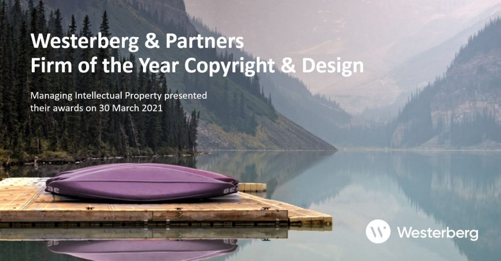 Westerberg & Partners Firm of the Year Copyright & Design.