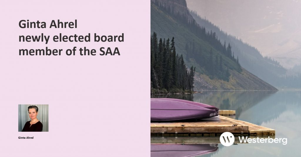 Ginta Ahrel newly elected board member of the SAA.
