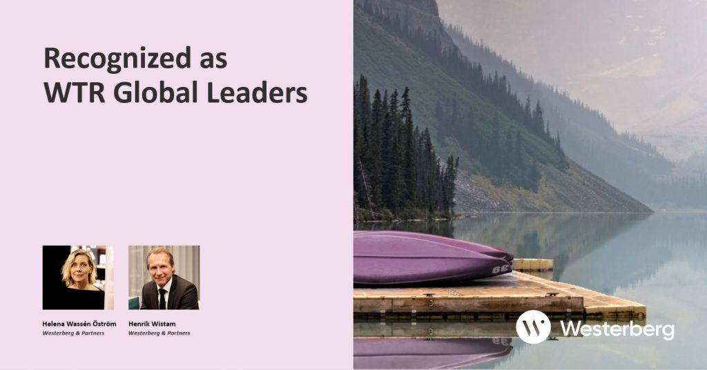 Recognized as WTR Global Leaders